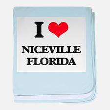 I love Niceville Florida baby blanket