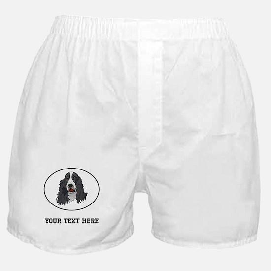 Custom Springer Spaniel Boxer Shorts