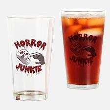 Horror Junkie Drinking Glass