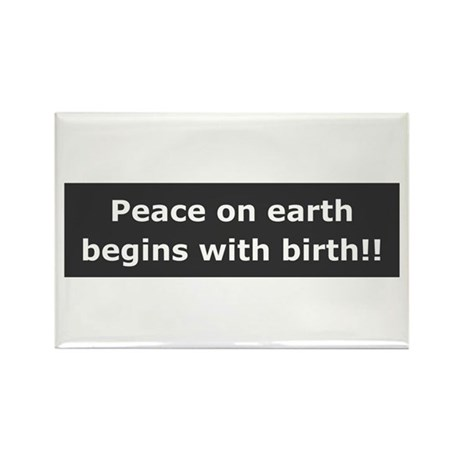 Peace With Birth Rectangle Magnet (100 pack)