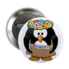 "Hula Penguin 2.25"" Button"