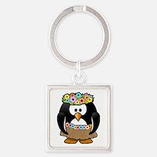 Hula Penguin Keychains