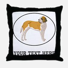 Custom Saint Bernard Throw Pillow