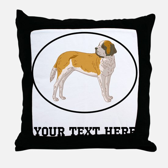 Custom Saint Bernard Throw Pillow