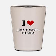 I love Palm Harbor Florida Shot Glass