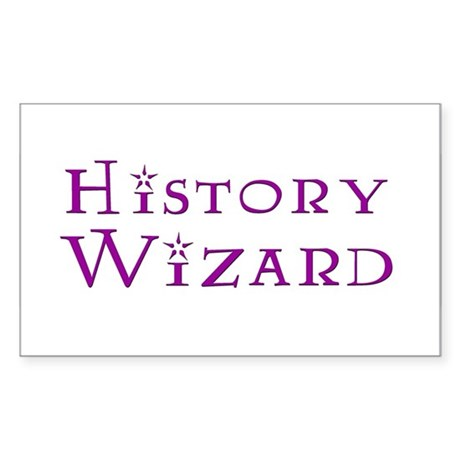 History Wizard Rectangle Sticker