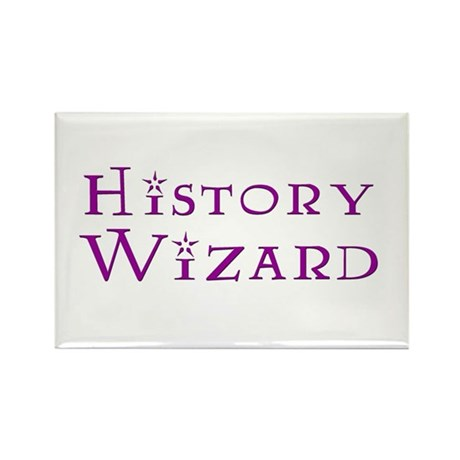 History Wizard Rectangle Magnet