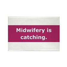 Midwifery is Catching Rectangle Magnet (10 pack)