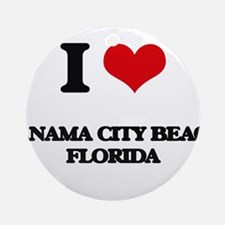 I love Panama City Beach Florida Ornament (Round)