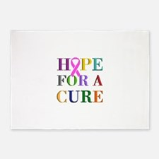 Hope For A Cure 5'x7'Area Rug