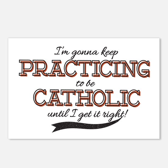 Practicing Catholic Postcards (Package of 8)