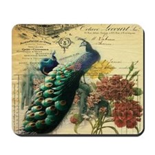 Paris vintage peacock  Mousepad