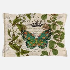 vintage botanical art butterfly Pillow Case