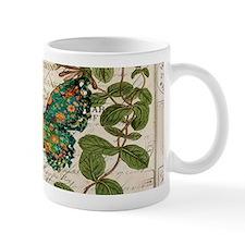 vintage botanical art butterfly Mugs