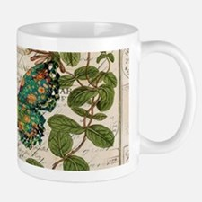 vintage botanical art butterfly Mugs