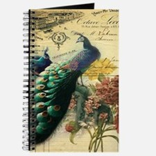Paris vintage peacock Journal