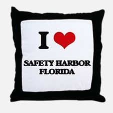 I love Safety Harbor Florida Throw Pillow