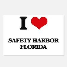 I love Safety Harbor Flor Postcards (Package of 8)