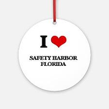 I love Safety Harbor Florida Ornament (Round)