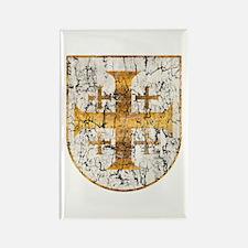 Jerusalem Cross, Distressed Rectangle Magnet