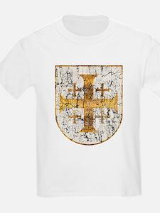 Jerusalem Cross, Distressed T-Shirt