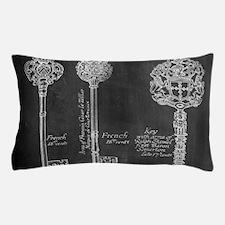 chalkboard french vintage keys Pillow Case