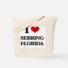 I love Sebring Florida Tote Bag