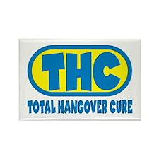 THC - Blue/Yellow logo Rectangle Magnet