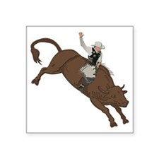 "Cowboy No Text Square Sticker 3"" x 3"""