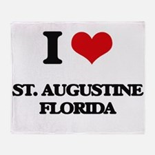 I love St. Augustine Florida Throw Blanket