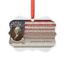 George Washington - Faith Ornament