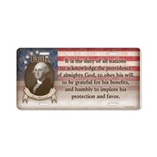 George Washington - Faith Aluminum License Plate