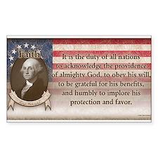 George Washington - Faith Decal