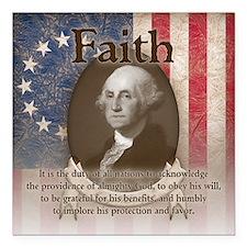 "George Washington - Faith Square Car Magnet 3"" x 3"