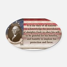 George Washington - Faith Oval Car Magnet