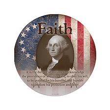 "George Washington - Faith 3.5"" Button"