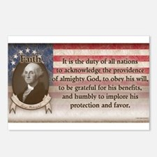 George Washington - Faith Postcards (Package of 8)