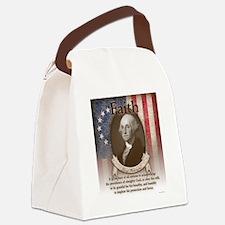 George Washington - Faith Canvas Lunch Bag