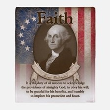 George Washington - Faith Throw Blanket