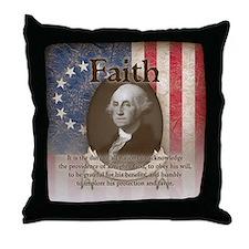 George Washington - Faith Throw Pillow