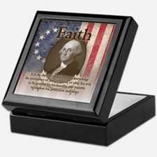 George Washington - Faith Keepsake Box