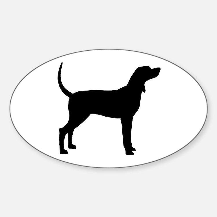 Coonhound Dog (#2) Sticker (Oval)