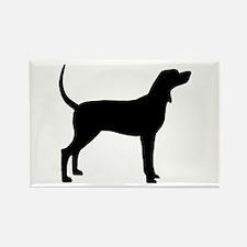 Coonhound Dog (#2) Rectangle Magnet