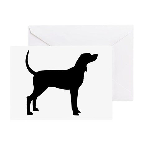 Coonhound Dog (#2) Greeting Cards (Pk of 10)
