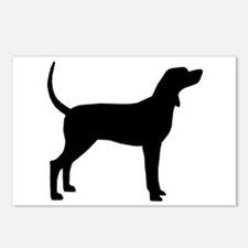 Coonhound Dog (#2) Postcards (Package of 8)