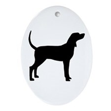 Coonhound Dog (#2) Ornament (Oval)