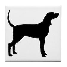 Coonhound Dog (#2) Tile Coaster