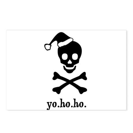 Christmas Pirate Postcards (Package of 8)