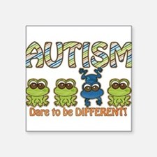 "Cute World autism awareness day Square Sticker 3"" x 3"""