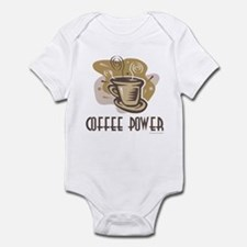 Coffee Power Infant Creeper